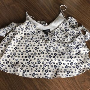 Topshop flowy crop top
